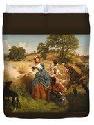Mrs Schuyler Burning Her Wheat Fields Duvet Cover