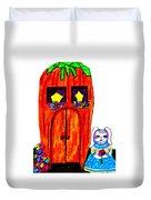 Ms. Bunny's Carrot House Duvet Cover