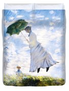Ms Monet Blown Away  Duvet Cover