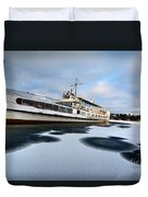 Ms Mount Washington At Winter Dock Duvet Cover