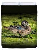 Ms. Wood Duck Duvet Cover