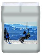 Up The Mountain  Duvet Cover