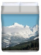 Mt Baker And Clouds Duvet Cover
