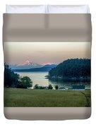 Mt Baker At Sunset Duvet Cover