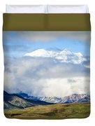 Mt Denali In The Clouds Duvet Cover