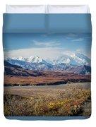 Mt Denali View From Eielson Visitor Center Duvet Cover