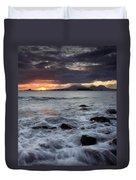 Mt. Edgecumbe Sunset Duvet Cover