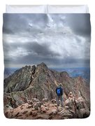 Mt Eolus And The Catwalk From North Eolus - Chicago Basin - Weminuche Wilderness - Colorado Duvet Cover