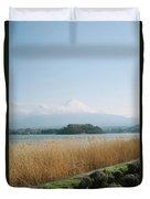 Mount Fuji View Duvet Cover