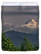 Mt Hood From Grassy Knoll Duvet Cover