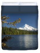 Mt Hood From Lost Lake Duvet Cover