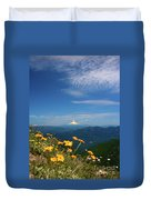 Mt. Hood In The Distance Duvet Cover