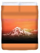Mt Hood Oregon Sunset Duvet Cover by Aaron Berg