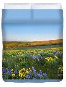 Mt. Hood Wildflower Morning Duvet Cover