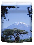 Mt. Kilimanjaro,moshi,tanzania Duvet Cover