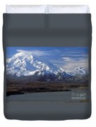 Mt. Mckinley And Lenticular Clouds Duvet Cover