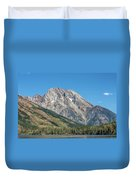 Mt Moran At The Grand Tetons Duvet Cover