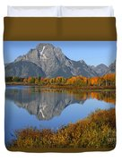 Mt. Moran Fall Reflection  Duvet Cover