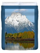 Mt Moran From Ox Bow Bend Duvet Cover