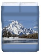 Mt Moran From Oxbow Bend Duvet Cover