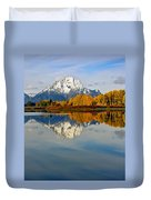 Mt Moran From The Ox Bow Duvet Cover