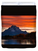 Mt. Moran Sunset Duvet Cover