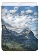 Mt. Oberlin From Logan Pass Duvet Cover by Jemmy Archer
