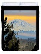 Mt. Rainier #1 Duvet Cover