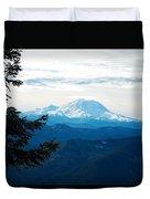 Mt Rainier And Lenticular Cloud Duvet Cover