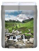 Mt Rainier Paradise Portrait Duvet Cover