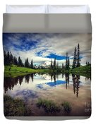 Mt Rainier Reflections Duvet Cover
