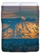 Mt Rainier Sunset Duvet Cover