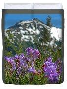 Mt. Rainier Wild Flowers Duvet Cover