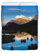 Mt Rundle Duvet Cover