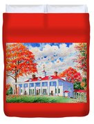 Mt. Vernon East Front In Fall Duvet Cover