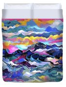 Mts. In The Sea Duvet Cover