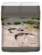 Mud Volcano Area In Yellowstone National Park Duvet Cover