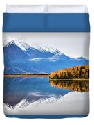 Mudd Lake Reflections Duvet Cover
