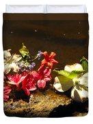 Muddy Flowers  Duvet Cover