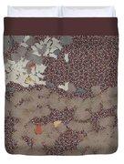 Muddy Footprints Over A Carpet Duvet Cover