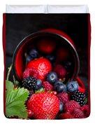 Mug With Fresh Berries Duvet Cover