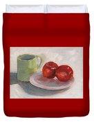 Mugging For Apples Duvet Cover
