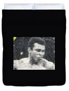 Muhammad Ali Butterfly Bee Mosaic Duvet Cover by Paul Van Scott