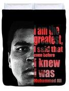 Muhammad Ali - Cassius Clay Portrait 2 - By Diana Van Duvet Cover