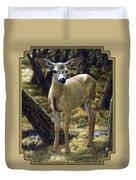 Mule Deer Fawn - Monarch Moment Duvet Cover