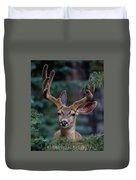 Mule Deer In Velvet 02 Duvet Cover