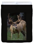 Mule Deer In Velvet 03 Duvet Cover