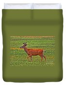 Mule Deer On The Sante Fe Trail Duvet Cover