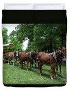 Mule Team Duvet Cover