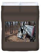 Mules At Sugar Camp Duvet Cover